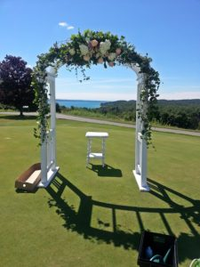 Agaming Wedding Arch 7-30-2016