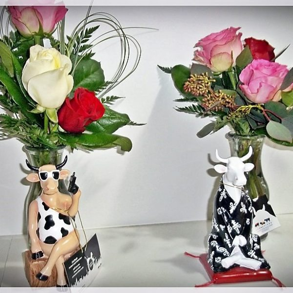 Cows with Flowers