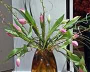 Green Vase with Tulips 2 5-8-17